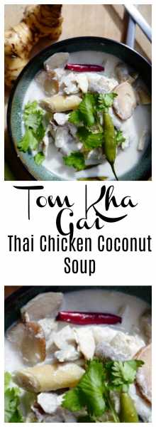 LOVE all the heart-warming flavors in Tom Kha Gai: coconut milk, chicken, kaffir lime, lemongrass, galangal, Thai chili peppers and lime juice! Coziness with a kick in a bowl! The perfect way to warm up any day! | thai-foodie.com
