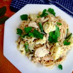 Easy Green Curry Chicken Spaghetti