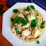 Easy Green Curry Chicken Spaghetti