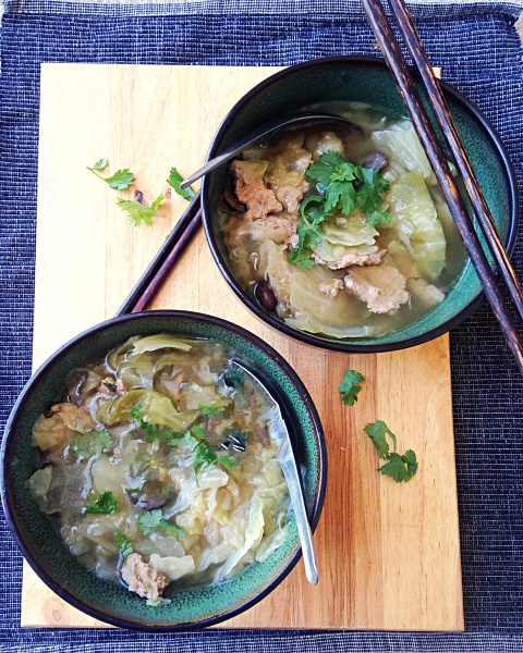 Thai Pork and Cabbage Soup Recipe