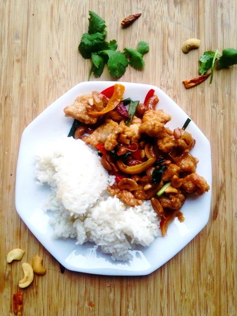 Thai Cashew Fried Chicken Stir-Fry