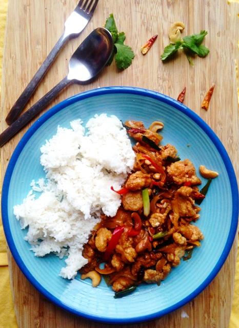 thai cashew fried chicken
