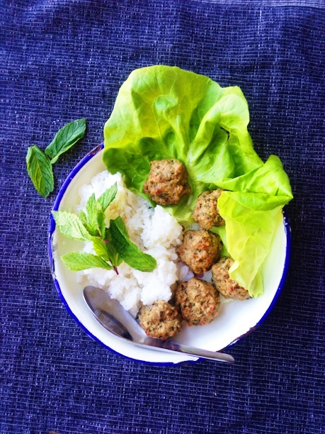 Thai Larb Meatball Lettuce Wraps Recipe