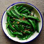thai stir-fried sugar snap peas