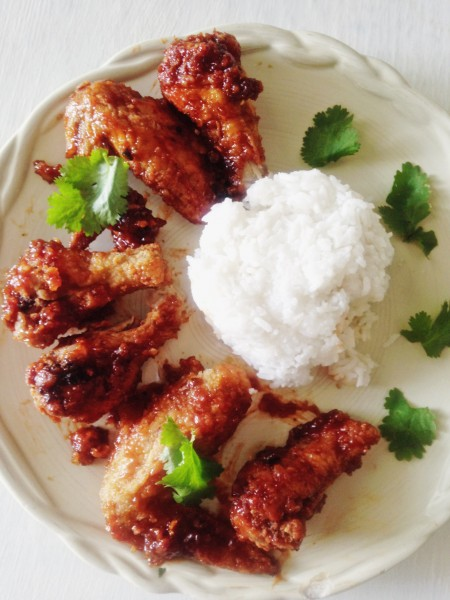 Thai-Style Korean Fried Chicken Recipe | Thai-Foodie: If you are craving soul food Thai-Korean style, you need to make Thai-Style Korean Fried Chicken tonight!! The twice fried chicken and epic sauce made of lip-smackin' honey, and spicy Gochujang will make all your worries float away!