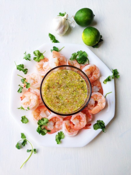 Spicy Thai Garlic Lime Seafood Sauce-Thai-Foodie: This Thai seafood sauce is jam-packed with flavor, garlic, lime, fish sauce, and Thai chilies, the perfect combo of flavors to go with any seafood you love and it only takes 5 minutes to make!! | thai-foodie.com