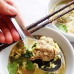 Thai Egg Drop Soup has such heart-warming flavors: cilantro, green onion, easy meatballs, and eggs, and is the perfect quick, weeknight meal!