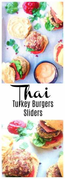 he perfect fusion of Thai and American food, a healthy Thai Turkey Slider jam-packed with flavors like ginger, green onion, garlic, cilantro and Thai chili pepper if you are up for it, and topped with an easy Thai Sriracha homemade mayo! | thai-foodie.com