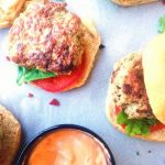 The perfect fusion of Thai and American food, a healthy Thai Turkey Slider jam-packed with flavors like ginger, green onion, garlic, cilantro and Thai chili pepper if you are up for it, and topped with an easy Thai Sriracha homemade mayo! | thai-foodie.com