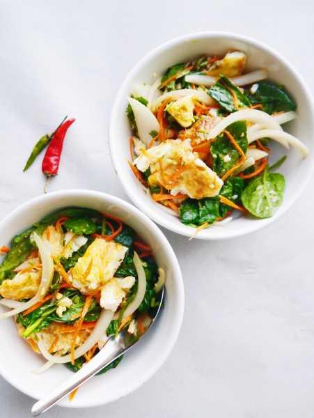 Thai Fried Egg Salad | Yam Khay Dao