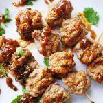 Thai meatballs complete with a Spicy Sweet Tamarind dipping sauce, similar to what you might find at a Thai street vendor's, but you know what goes in them, and can make as many as you want!! | thai-foodie.com