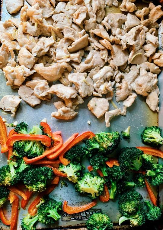 Sheet Pan Thai Ginger Chicken & Broccoli | Thai-foodie.com